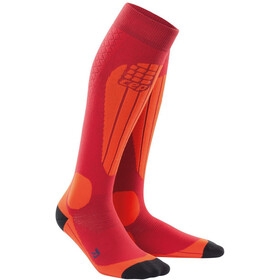 cep Thermo Ski Socks Herrer, cranberry/orange
